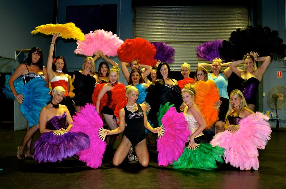 Burlesque Dolls Fan Dancing Workshops Gold Coast