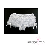 White Ruffle Panties With Side Bows