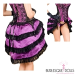 Purple Black Lace Tie Bustle Skirt
