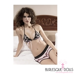 Pink Black Bedroom Bikini Set