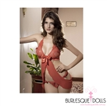 Red Heart Babydoll Set