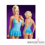 Baby Blue Sequin Chemise Set
