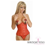 Red Heart Shaped Sequin Nipple Tassels