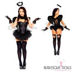 Deluxe Dark Angel Burlesque Costume
