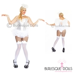 Sexy White Sequin Angel Burlesque Costume