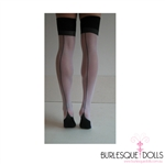 Thigh High Black Sheer Cuban Heel Stockings