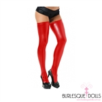 Red Stretch Vinyl Thigh Highs