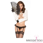 Black Lace Ruffled Garter Belt