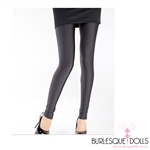 Black Shiny Stretch Footless Tights