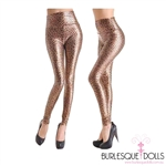 High Waisted Leopard Stretch Vinyl Leggings