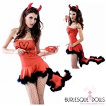 Sexy 3-Piece Devil Costume
