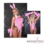 5-Piece Feathered Bunny Bodysuit