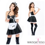 3-Piece French Maid Halter Dress