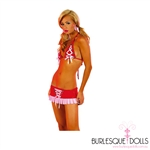 Red Pink Bikini Mini Set