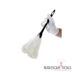 French Maid White Feather Duster