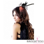 Great Gatsby Red Feather Diamond Fascinator