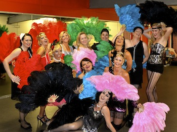 Burlesque Dolls Feather Fan Hire